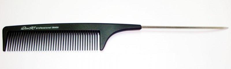 Расчёска парикмахерская с металлическим хвостиком ДенІС 06400