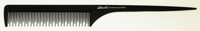 Расчёска парикмахерская с хвостиком ДенІС 8612 разные зубцы