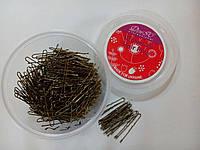Шпильки для волос золото 300шт 4,5см, фото 1
