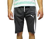 Серые мужские трикотажные шорты PUMA на лето, фото 1
