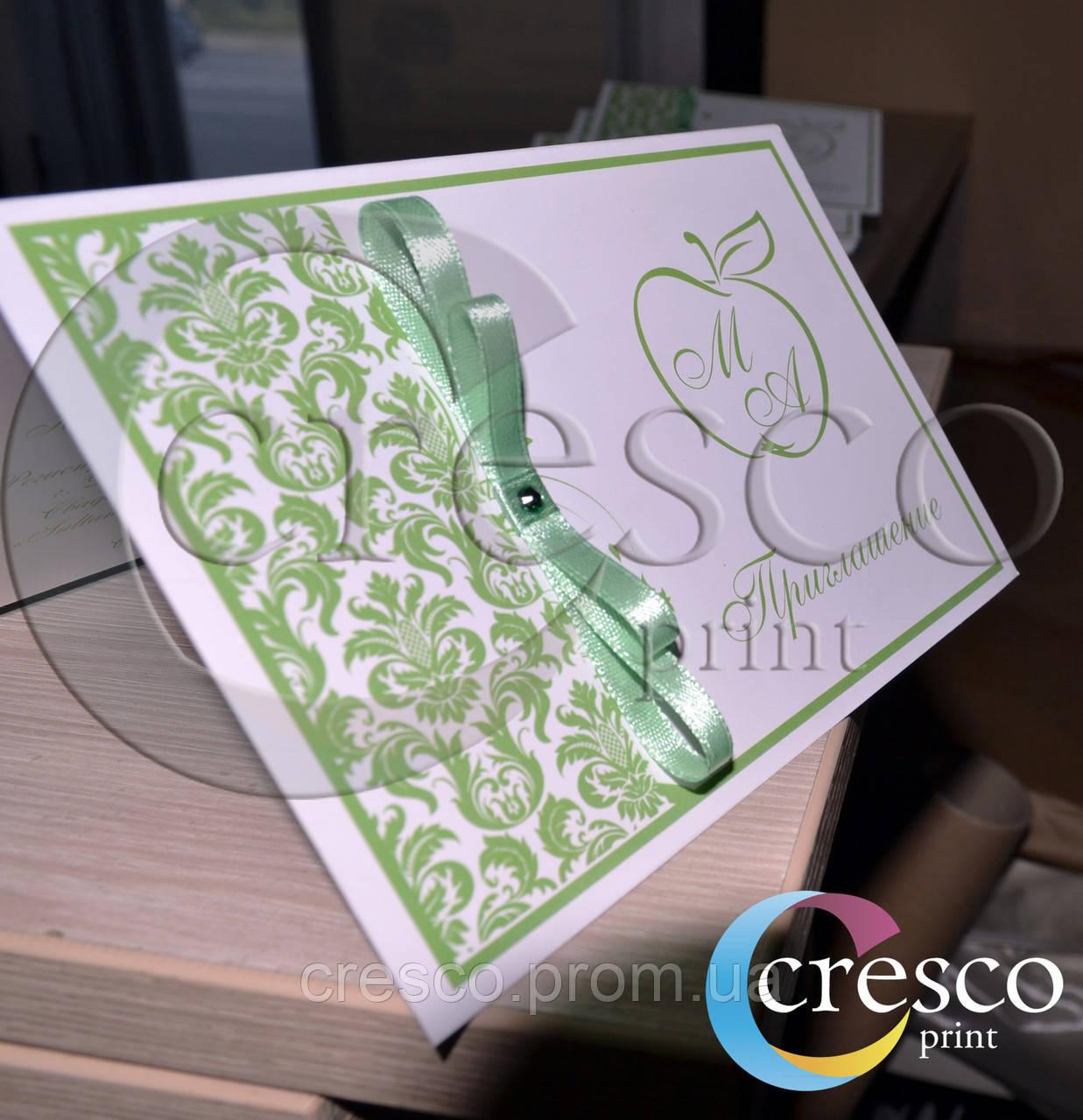 Стильные свадебные пригласительные - Cresco print в Днепре