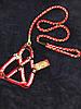 Шлея с поводком для собак One Touch Camon S-М красная