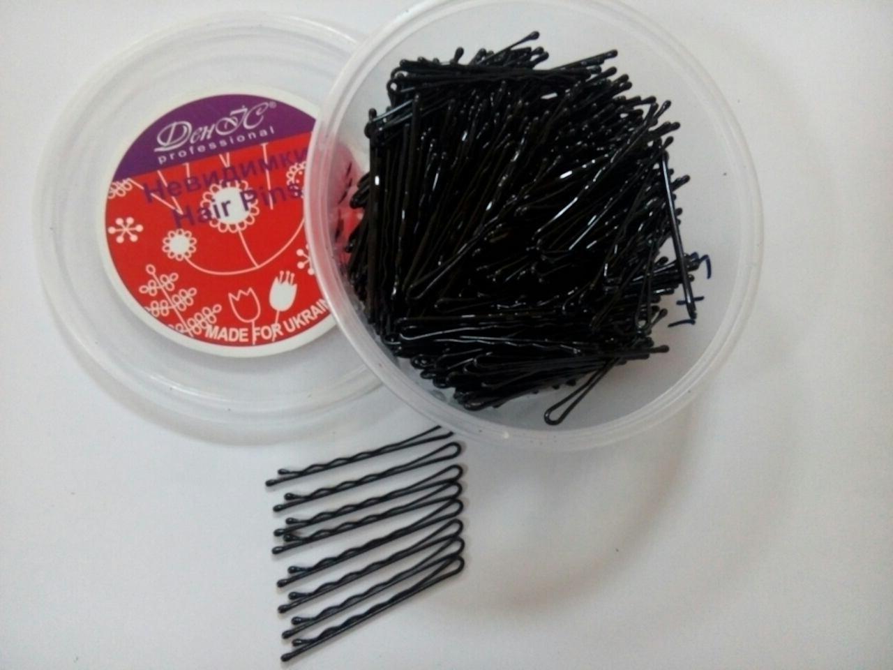 Невидимки В11 черные 370 шт 5.5 см