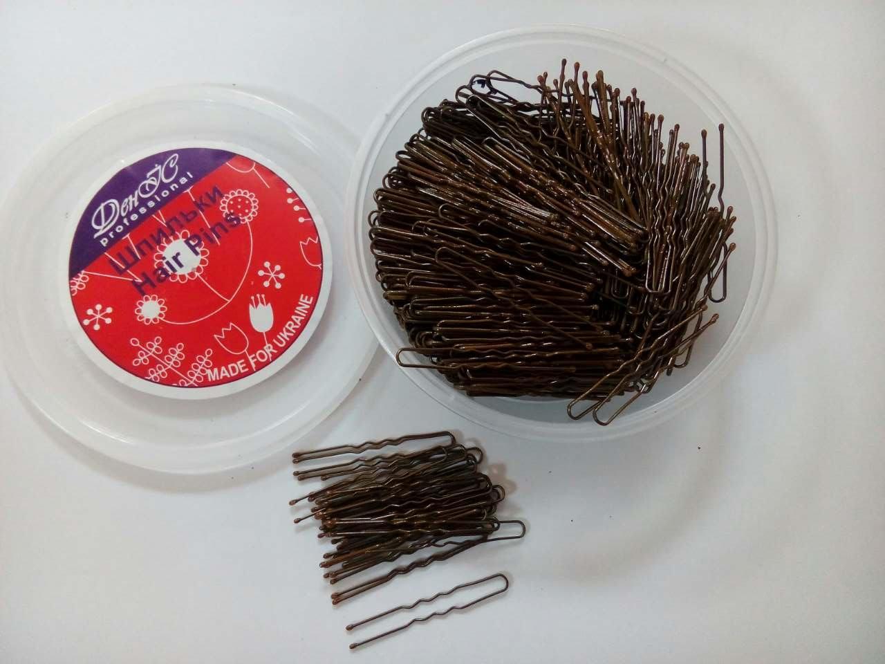 Шпильки для волос коричневые 460шт 5см