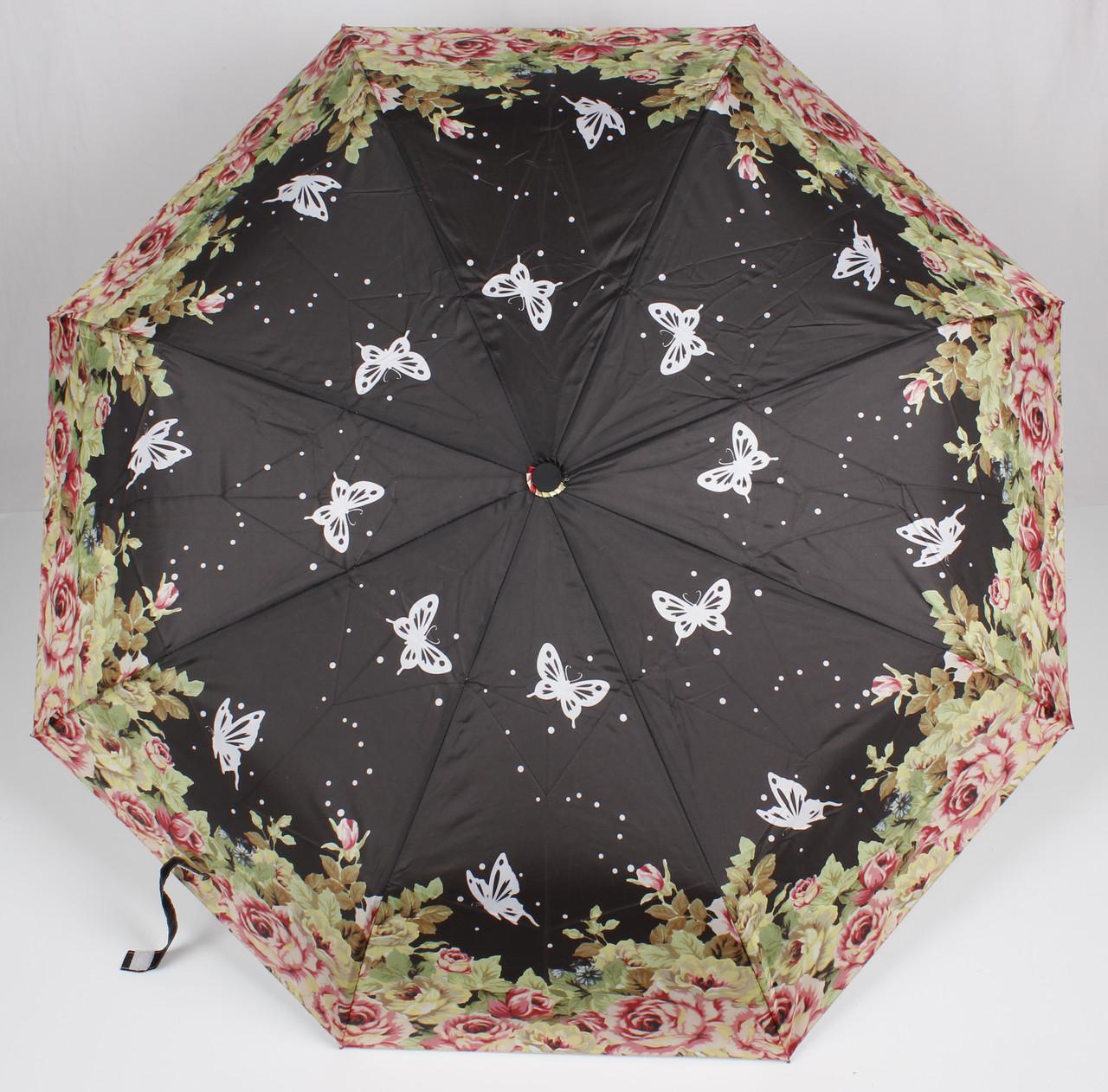 Зонт женский полуавтомат бабочки Mario