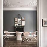Обеденный овальный бетонный стол PODIUM 200x106 см фабрики BONTEMPI (Италия), фото 5