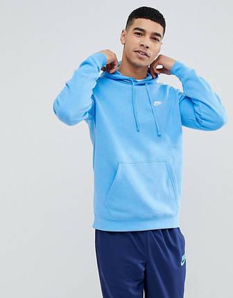 Толстовка Nike Club Swoosh Pullover Hoodie 804346-413 (Оригинал), фото 2