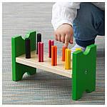 IKEA MULA Блок с колышками и молотком, многоцветный  (702.948.91), фото 2