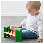 IKEA MULA Блок с колышками и молотком, многоцветный  (702.948.91), фото 3