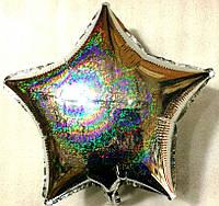 Шар в форме звезды галогенный, серебро