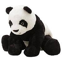 IKEA KRAMIG Мягкая игрушка, панда, белый, черный  (302.213.16)