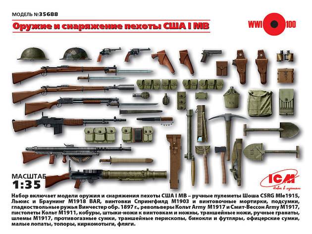 Оружие и снаряжение пехоты США І МВ. 1/35 ICM 35688, фото 2