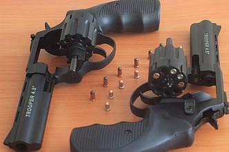 Револьвер под патрон Флобера TROOPER-4,5 S рукоятка пласт.черн.