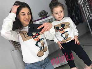 Одинаковые свитшоты мама и дочка микки маус , фото 2