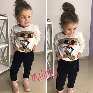 Детский свитшот с микки маусом двунитка, фото 2
