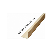 Куточок зовнішній декоративний рельєфний сосна 40*40мм