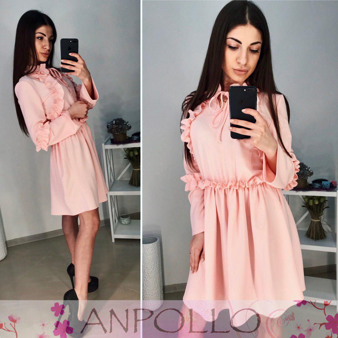 Платье с рюшками талия на резинке