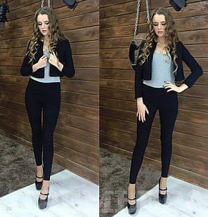 Костюм лосины джинсы и укороченный пиджак, фото 2