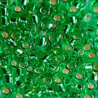 Чешский бисер для рукоделия Preciosa (Прециоза) оригинал 50г 33119-57100-10 Зеленый