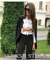 Блуза с бантом под брюки, фото 3