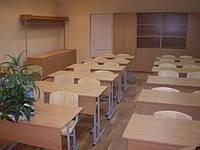 Парта двухместная с регулировкой высоты Школьная аудиторная