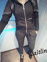 Костюм спортивный с полосками и капюшоном, фото 2