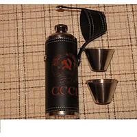 Набор (термос) СССР 2в1 Фляга,Стопки YT-9, походный термос, туристическая посуда