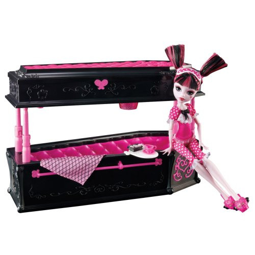 Кукла Дракулаура с кроватью (Monster High Draculaura Doll & Jewelry Box Coffin Set)