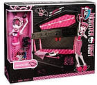 Кукла Дракулаура с кроватью (Monster High Draculaura Doll & Jewelry Box Coffin Set), фото 2