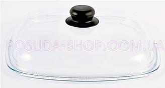Крышка Биол стеклянная квадратная 28 см. КС28х28 (высокая)