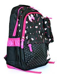 Качественный школьный рюкзак для девочки с пеналом 8338