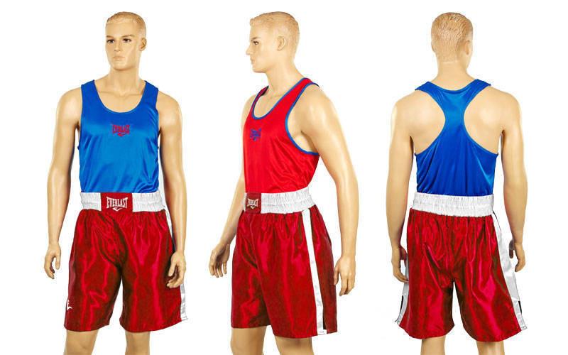 Боксерская форма EVERLAST двухсторонняя красно-синяя