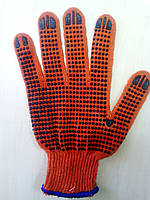 Трикотажные перчатки с ПВХ покрытием