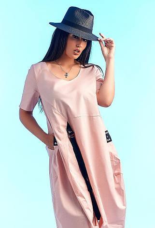 Платье женское коттон пудра большие размеры 50-62, фото 2