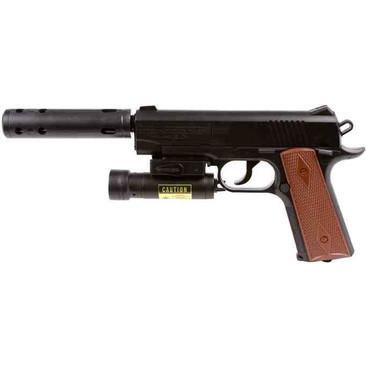 Пистолет пневматический Crosman мод.1911TAC с ЛЦВ