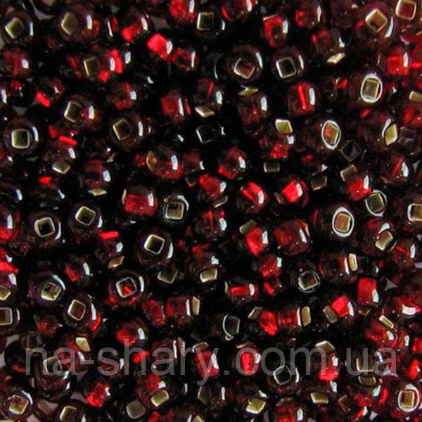 Чешский бисер для рукоделия Preciosa (Прециоза) оригинал 50г 33129-97120-10 Вишневый