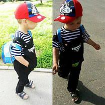 Детский мальчуковый комплект комбинезон + футболка, фото 2