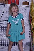 Детское платье с воланом и коротким рукавчиком, фото 3