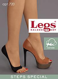 Подследники LEGS 720 PEEP TOE COTTON, следы, носочки