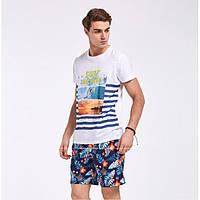 Мужские пляжные шорты № 2217 (р.S-XXL)
