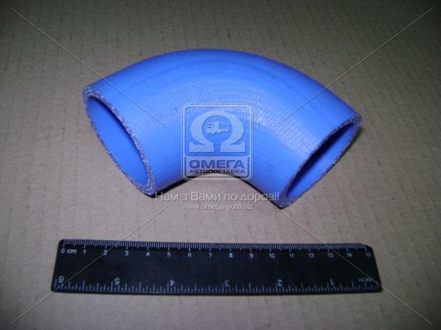 Шланг охладителя наддува ГАЗ 3308, 3309, 33104 ВАЛДАЙ угловой силиконовый (покупн. ГАЗ). 3310-1172117-01. Ціна з ПДВ.