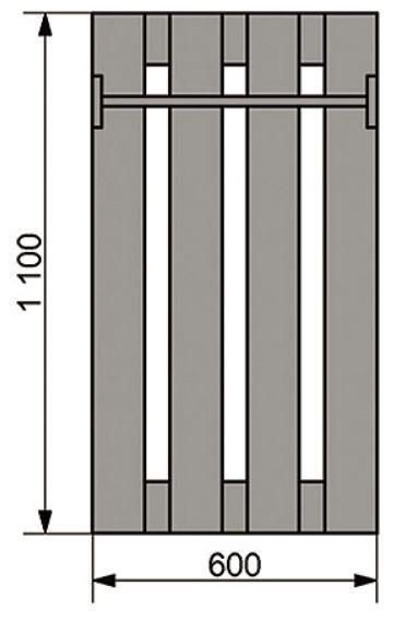 Полка 7 вешалка (схема)