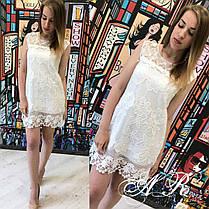 Платье кружевное без рукавов набивной гипюр, фото 2