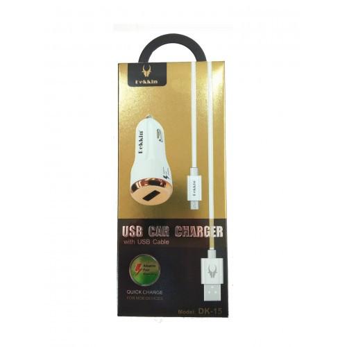 Автомобильное зарядное устройство USB - 2.4A Dekkin DK-15