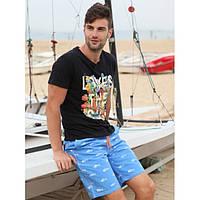 Мужские пляжные шорты № 2214 (р.S-XXL)