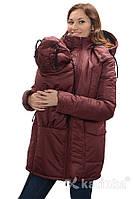 Зимняя куртка для беременных и слингоношения 4в1, бордовая *, фото 1