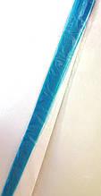 Пасма штучного волосся 2 шт на заколці, блакитні