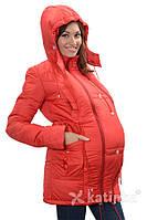 Зимняя куртка для беременных и слингоношения 4в1, красная *