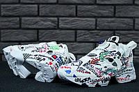 Кроссовки женские в стиле Reebok InstaPump Fury x Vetements код товара KD-11532. Белые