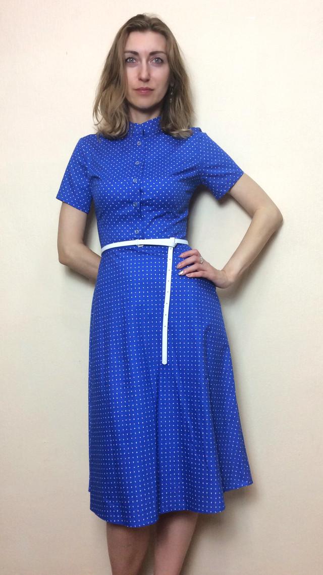 Платье летнее миди из сатин-котона П218